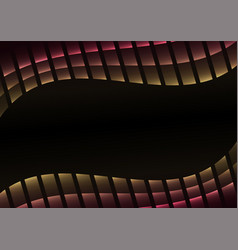 Abstract pixel curve gradient black background vector