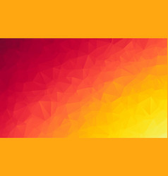 abstract polygon orange background of modern vector image