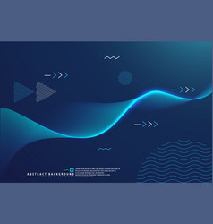 abstract shining wave background poster template vector image