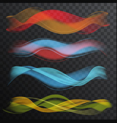 Abstract smooth wave on transparent alpha vector