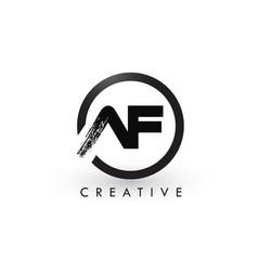 Af brush letter logo design creative brushed vector