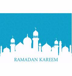 arab whites mosque on blue background ramadan vector image
