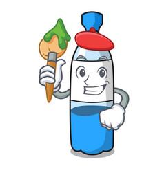 artist water bottle character cartoon vector image