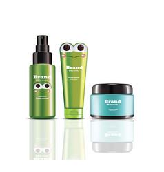 baby cream and spray realistic cosmetics vector image