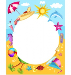 Beach frame vector