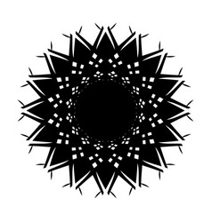 Black tribal tattoo 0009 vector