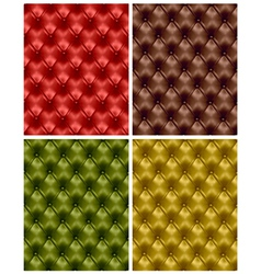 Button-tufted leather backgrounds vector
