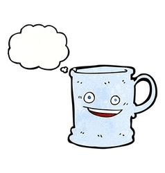 Cartoon mug with thought bubble vector