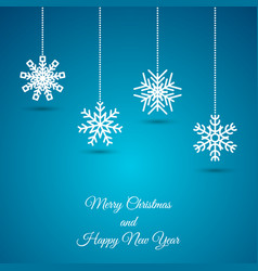 christmas background with snowflake garland vector image