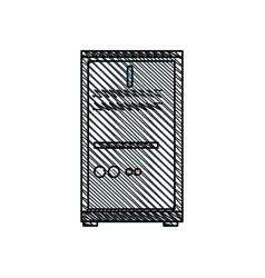 computer server data work image vector image