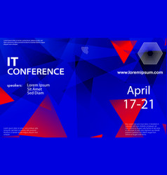 conference announcement design template vector image