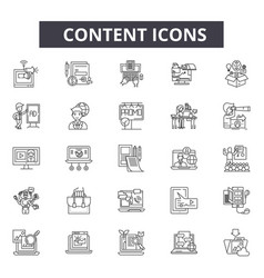 content line icons for web and mobile design vector image