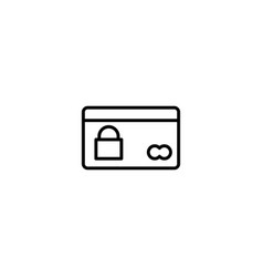 credit card protection icon vector image