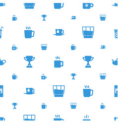 Cup icons pattern seamless white background vector