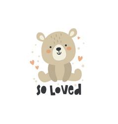 cute a sitting bear vector image