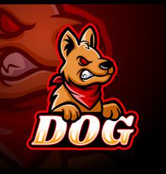 dog esport logo mascot design vector image