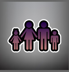 family sign violet gradient vector image