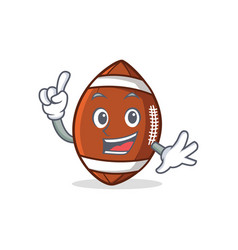 Finger american football character cartoon vector