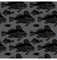 fishes ocean vector image