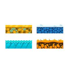 flat set of 4 seamless platforms vector image