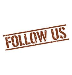Follow us stamp vector