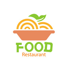 food restaurant logo dish background image vector image