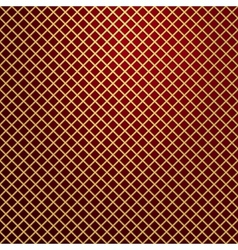 gold lattice on red background vector image