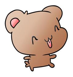 Gradient cartoon kawaii cute happy hamster vector