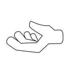 hand symbol isolated vector image