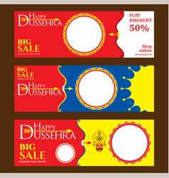 Happy dussehra festival poster design vector