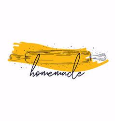 homemade phrase handwritten with cursive vector image