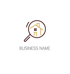 House search icon logo vector