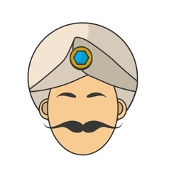 Indian man with turbant vector image