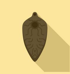 Intestinal parasite icon flat style vector