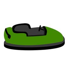 Isolated bumper car vector
