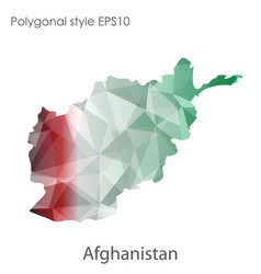 isolated icon afghanistan map polygonal vector image