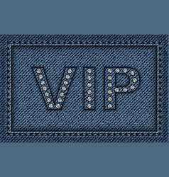 Jeans vip poster vector