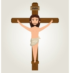 Jesus christ crucified design isolated vector