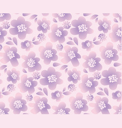 Lilac color summer floral in retro 60s style vector