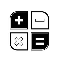 Math signs icon vector