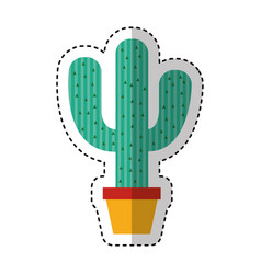 Mexican cactus isolated icon vector