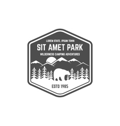 National park vintage badge Mountain explorer vector image