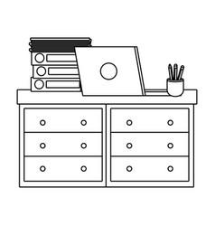 office furniture cartoon vector image