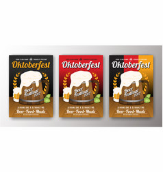 Oktoberfest beer festival advertisement poster vector