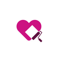 Paint love logo icon design vector