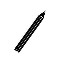 Pencil with eraser vector