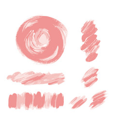 pink brush strokes set pale pink rose texture vector image
