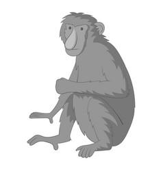 proboscis monkey icon monochrome vector image vector image
