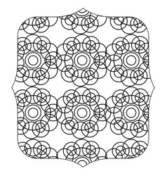 Quadrate with pattern shapes graphic background vector