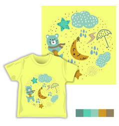 Rainy childish seamless pattern vector